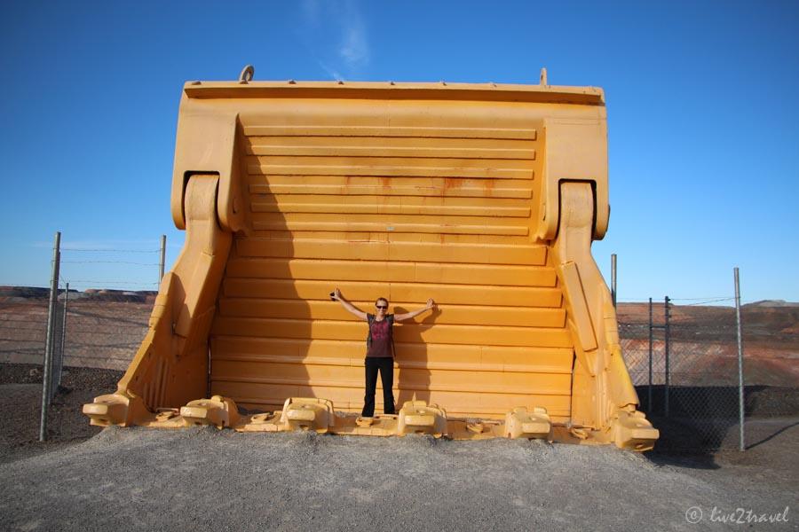 Riesige Baggerschaufel An Der Super Pit Goldmine