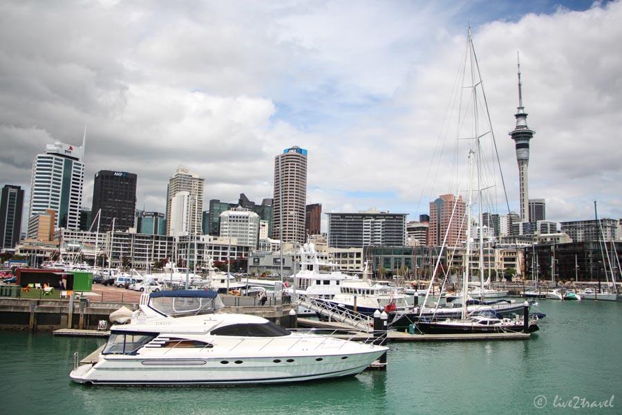 Blick Auf Die Skyline Und Den Hafen