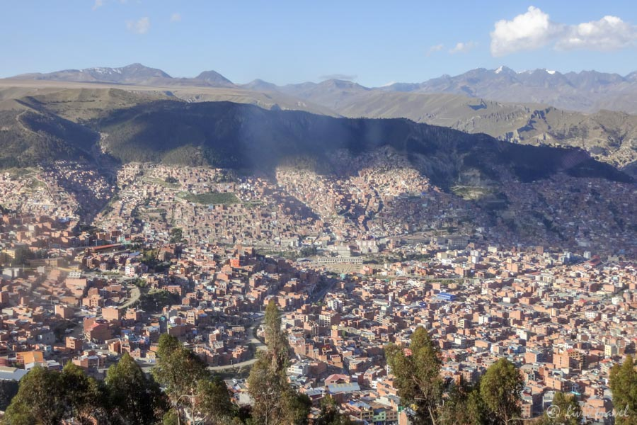 Der Erste Blick Auf La Paz